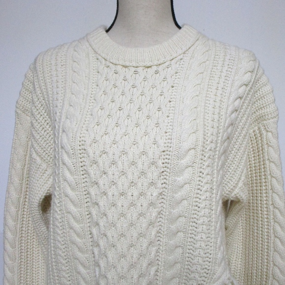 9f5f7fd63e7254 J. Crew Sweaters | J Crew Cableknit Sweater With Fringe Oversized ...